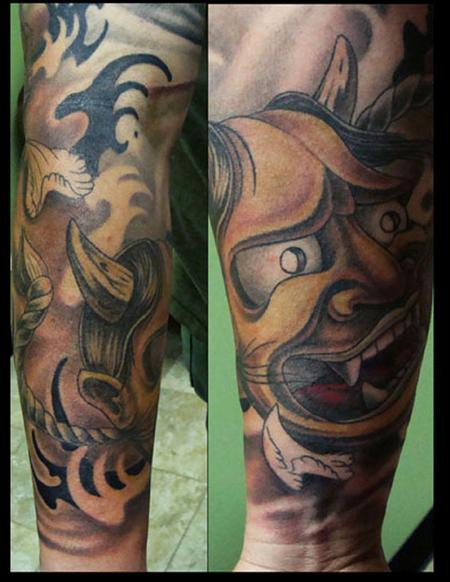 Tattoos - oni sleeve - 58985